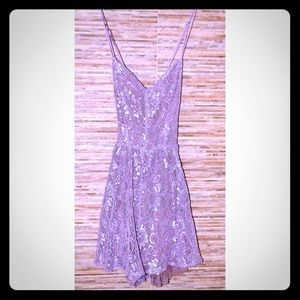 Lavender romper with glitter